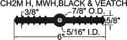 RCB-638LB Ribbed Center Bulb