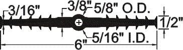 TCB-638 Ribbed Center Bulb